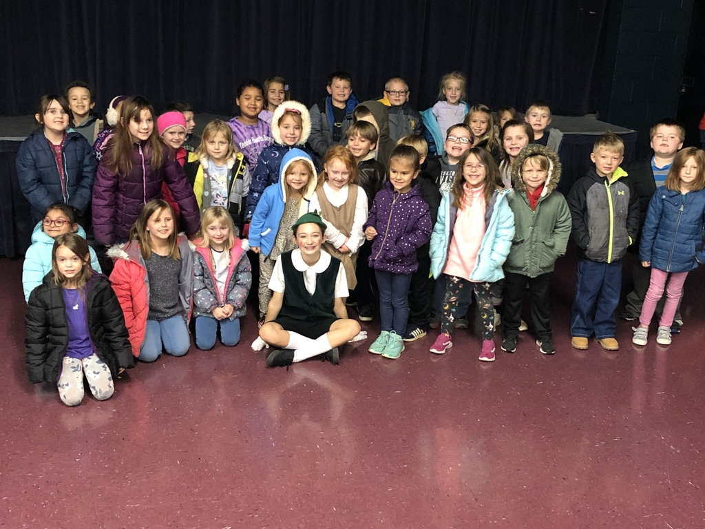 Kindergarten, 1st grade and Ms. Pam's class enjoyed watching our Kindergarten friend in Pinocchio!