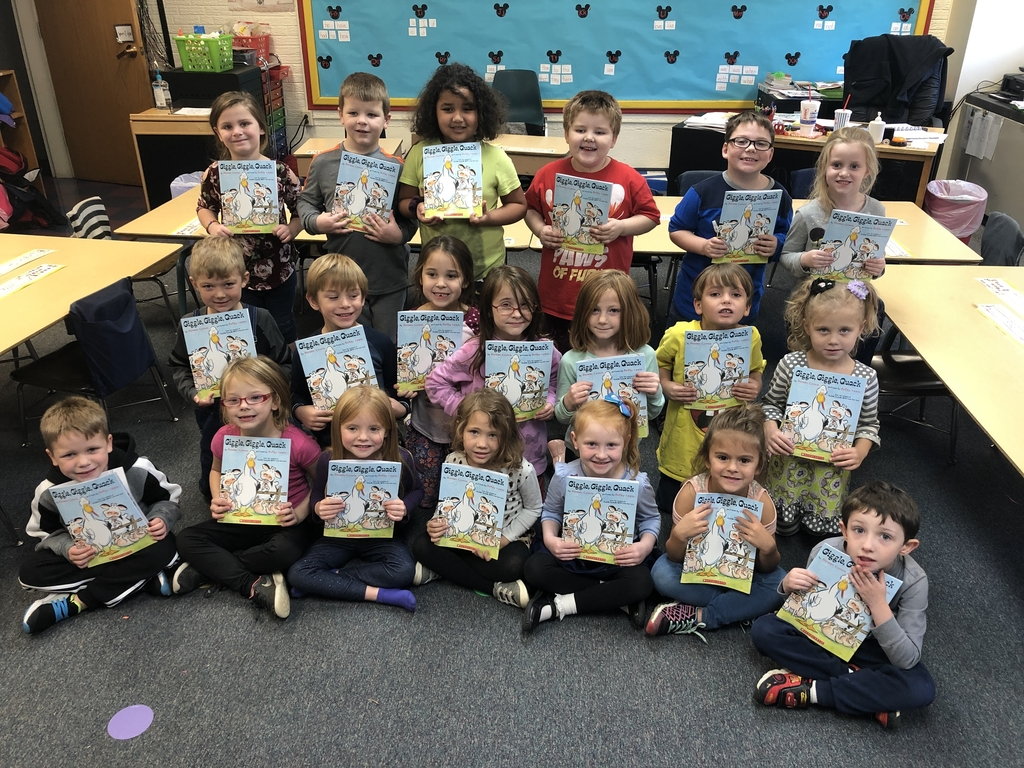 Kindergarten says thank you to our book sponsors.
