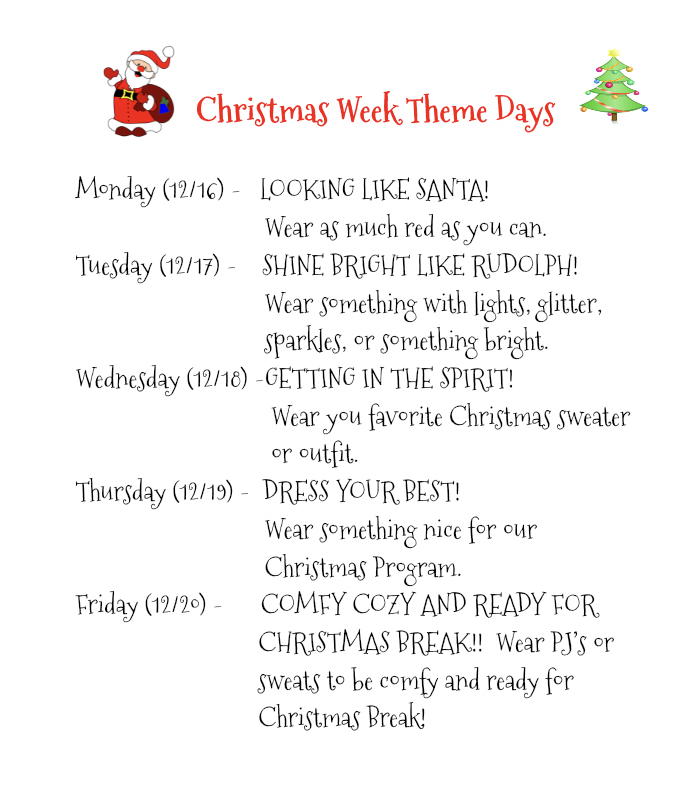 Christmas Theme Days