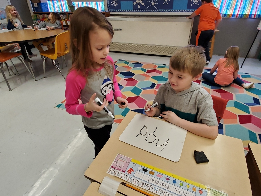 1st grade enjoying our Teacher Student Spelling activity to practice our weekly spelling words for tomorrow's test. Each group showed great teamwork.